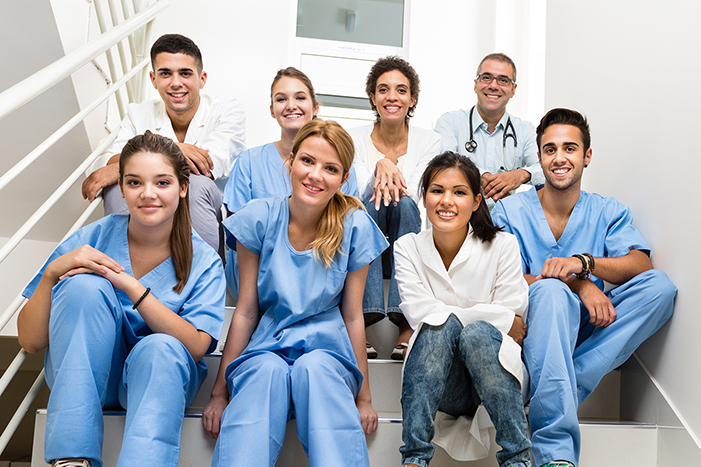 medical staff posing for picture